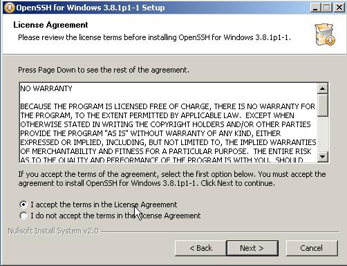 Openssh Installer