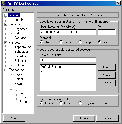 Connecting using putty with Windows Remote Desktop Windows